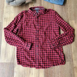 Great Outdoors On The Road Plaid Flannel Shirt
